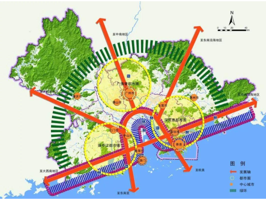 """如何支持广州都市圈""""一核一区""""模式"""
